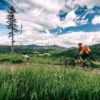 Mountain Biking Man Riding On Bike In Summer Inspirational Lands