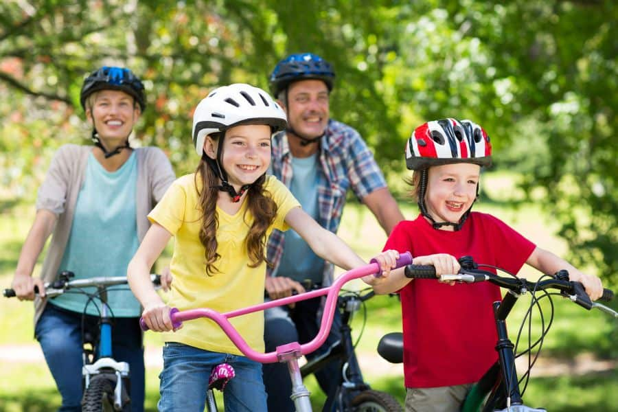 recreational cycling for families